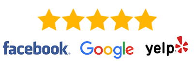 5 Stars - Facebook / Google / Yelp